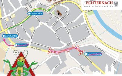UPDATE: Vollsperrung in der Rte de Wasserbillig / Rue des Remparts