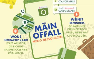 Mäin Offall – Meng Ressourcen: Déi national Offall-App ass do!